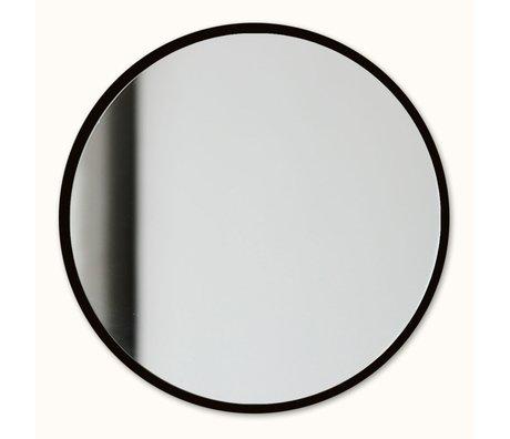 Groovy Magnets Magnetische spiegel zwart spiegelglas staal Ø16cm