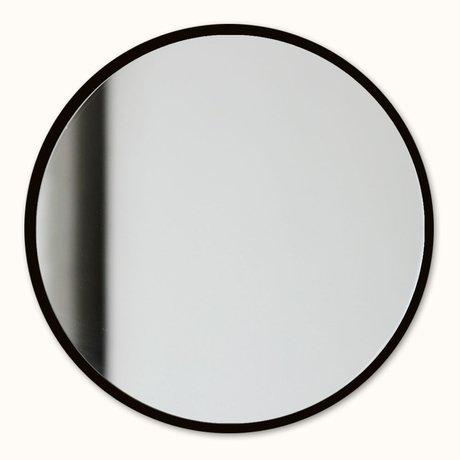 Groovy Magnets Miroir magnétique noir miroir acier verre Ø16cm