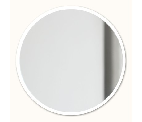 Groovy Magnets Magnetic mirror white mirror glass steel Ø16cm