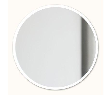 Groovy Magnets Magnetische spiegel wit spiegelglas staal Ø16cm