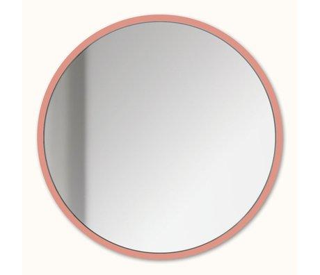 Groovy Magnets Magnetspiegel lachsrosa Spiegelglas Stahl Ø16cm