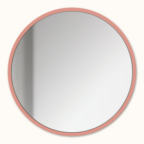 Groovy Magnets Magnetic mirror salmon pink mirror glass steel Ø16cm