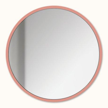 Groovy Magnets Miroir magnetique miroir rose saumon acier Ø16cm