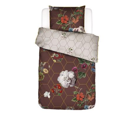 ESSENZA Housse de couette Abigail marron multicolore textile 140x220cm - Taie d'oreiller incluse 60x70cm
