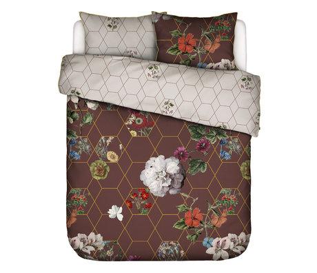 ESSENZA Dekbedovertrek Abigail bruin multicolour textiel 200x220cm - incl. kussensloop 2x 60x70cm