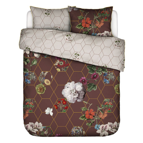 ESSENZA Duvet cover Abigail brown multicolour textile 200x220cm - incl. Pillowcase 2x 60x70cm