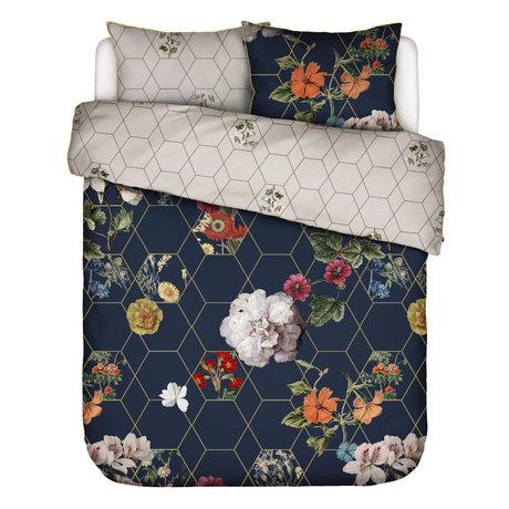 ESSENZA Bettbezug Abigail dunkelblau mehrfarbiges Textil 200x220cm - inkl. Kissenbezug 2x 60x70cm