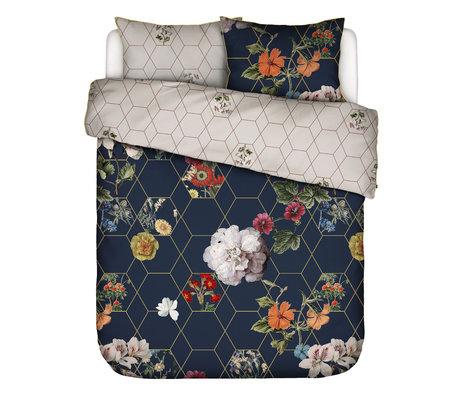 ESSENZA Housse de couette Abigail en textile multicolore bleu foncé 240x220cm - Taie d'oreiller incluse 60x70cm