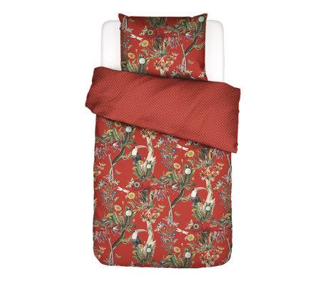 ESSENZA Housse de couette Airen Chilli rouge en textile multicolore 140x220cm - Taie d'oreiller incluse 60x70cm