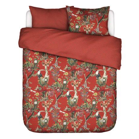 ESSENZA Housse de couette Airen Chilli rouge en textile multicolore 200x220cm - Avec taie d'oreiller 2x 60x70cm