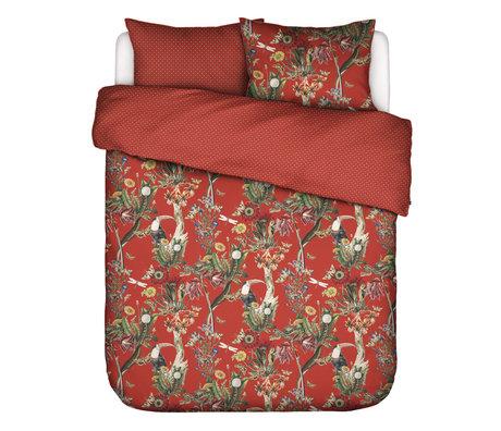 ESSENZA Housse de couette Airen Chilli rouge multicolore textile 260x220cm - Avec taie d'oreiller 2x 60x70cm