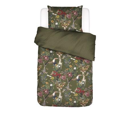 ESSENZA Dekbedovertrek Airen Moss groen multicolour textiel 140x220cm - incl. kussensloop 60x70cm