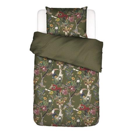 ESSENZA Bettbezug Airen Moosgrün bunt Textil 140x220cm - inkl. Kissenbezug 60x70cm
