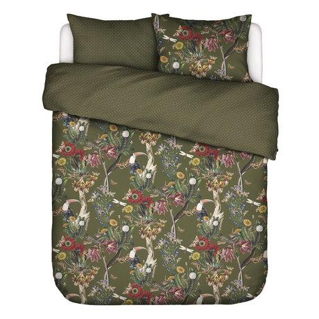 ESSENZA Dekbedovertrek Airen Moss groen multicolour textiel 240x220cm - incl. kussensloop 2x 60x70cm
