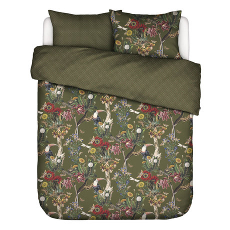 ESSENZA Duvet cover Airen Moss green multicolour textile 240x220cm - incl. Pillowcase 2x 60x70cm