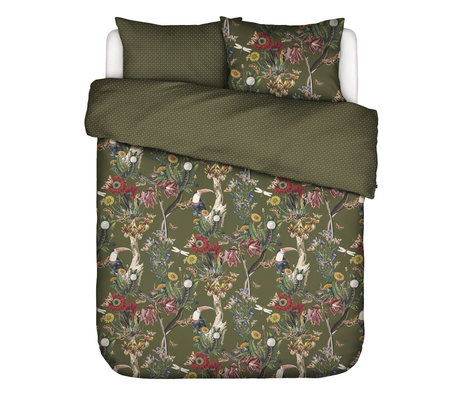 ESSENZA Bettbezug Airen Moosgrün mehrfarbiges Textil 260x220cm - inkl. Kissenbezug 2x 60x70cm