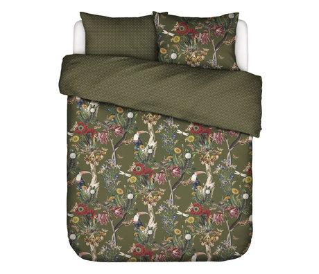 ESSENZA Housse de couette Airen vert mousse multicolore textile 260x220cm - avec taie d'oreiller 2x 60x70cm