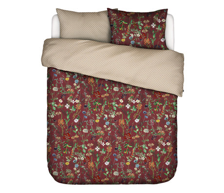 ESSENZA Duvet cover Aletta Burgundy red multicolour textile 200x220cm - incl. Pillowcase 2x 60x70cm