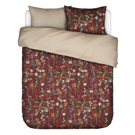 ESSENZA Bettbezug Aletta Burgundrot Multicolor Textil 200x220cm - inkl. Kissenbezug 2x 60x70cm