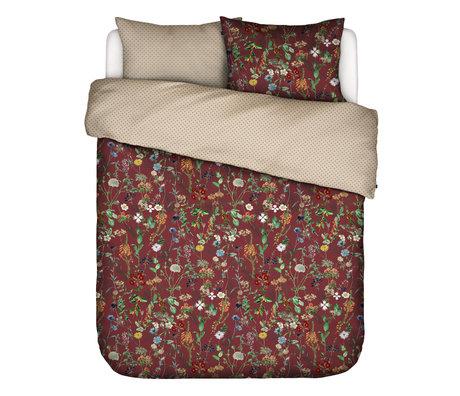 ESSENZA Duvet cover Aletta Burgundy red multicolour textile 240x220cm - incl. Pillowcase 2x 60x70cm