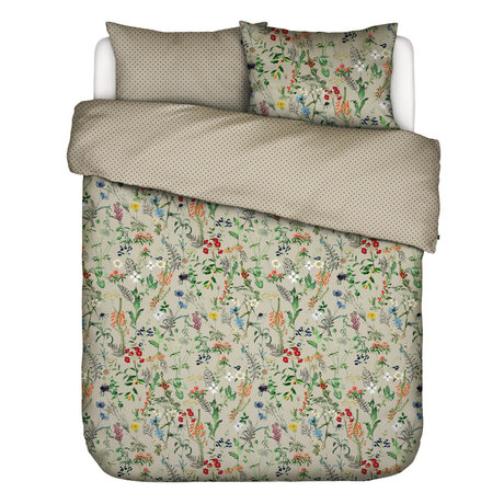 ESSENZA Duvet cover Aletta Taupe brown multicolour textile 200x220cm - incl. Pillowcase 2x 60x70cm