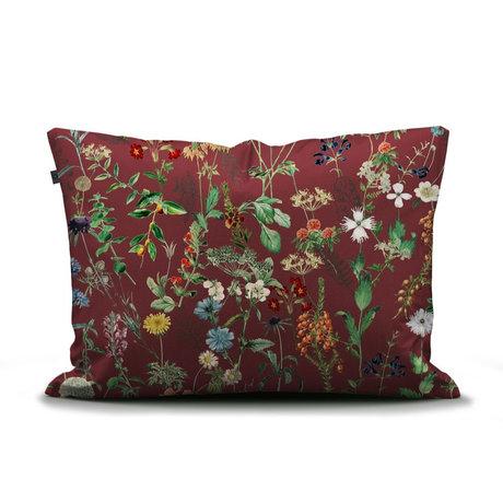 ESSENZA Kussensloop Aletta Burgundy rood multicolour textiel 60x70cm