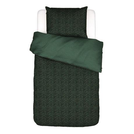 ESSENZA Dekbedovertrek Bory groen textiel 140x220cm - incl. kussensloop 60x70cm