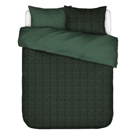 ESSENZA Dekbedovertrek Bory groen textiel 240x220cm - incl. kussensloop 2x 60x70cm