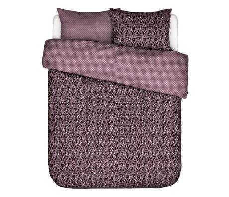 ESSENZA Dekbedovertrek Bory Lila paars textiel 200x220cm - incl. kussensloop 2x 60x70cm