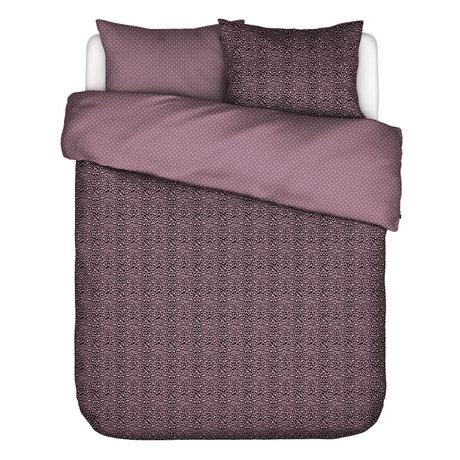 ESSENZA Housse de couette Bory Lilas textile violet 240x220cm - Taie d'oreiller incluse 2x 60x70cm