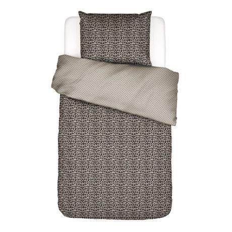 ESSENZA Housse de couette Bory sable brun textile 140x220cm - Taie d'oreiller incluse 60x70cm