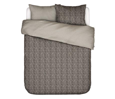 ESSENZA Housse de couette Bory sable brun textile 240x220cm - Taie d'oreiller incluse 2x 60x70cm