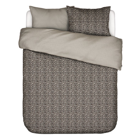 ESSENZA Dekbedovertrek Bory zand bruin textiel 240x220cm - incl. kussensloop 2x 60x70cm