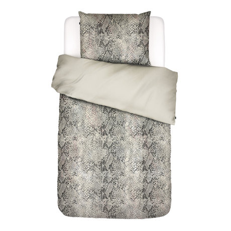 ESSENZA Housse de couette Doutzen sable brun textile 140x220cm - Taie d'oreiller incluse 60x70cm
