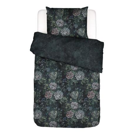 ESSENZA Housse de couette Elizabeth en textile multicolore bleu foncé 140x220cm - Taie d'oreiller incluse 60x70cm