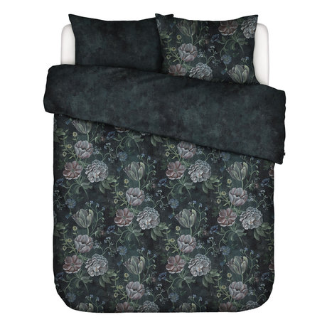 ESSENZA Duvet cover Elizabeth dark blue multicolour textile 240x220cm - incl. Pillowcase 2x 60x70cm