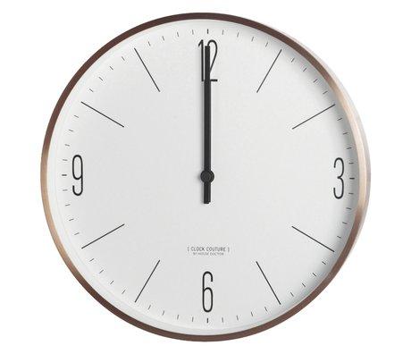 Housedoctor Clock Couture en métal doré ø30cm