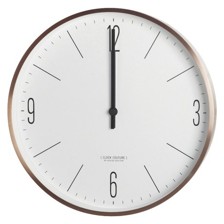 Housedoctor Clock Couture white gold metal ø30cm