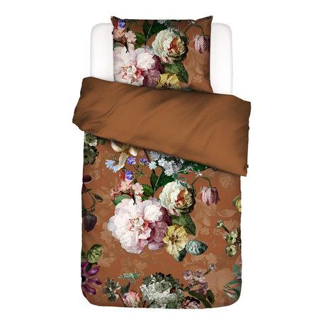 ESSENZA Housse de couette Fleurel marron multicolore textile 140x220cm - Taie d'oreiller incluse 60x70cm