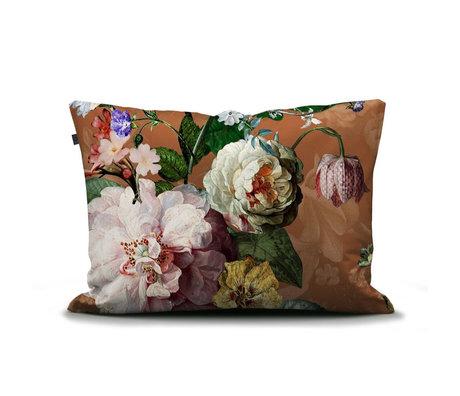ESSENZA Kissenbezug Fleurel braun mehrfarbig mehrfarbig Textil 60x70cm