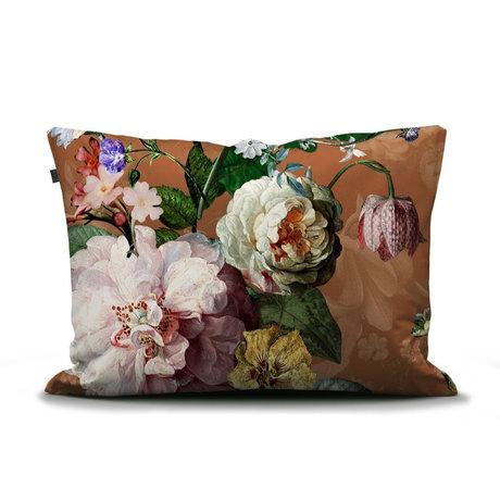 ESSENZA Kussensloop Fleurel bruin multicolour multicolour textiel 60x70cm