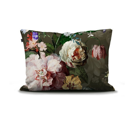 ESSENZA Kissenbezug Fleurel Olivgrün mehrfarbig mehrfarbig Textil 60x70cm
