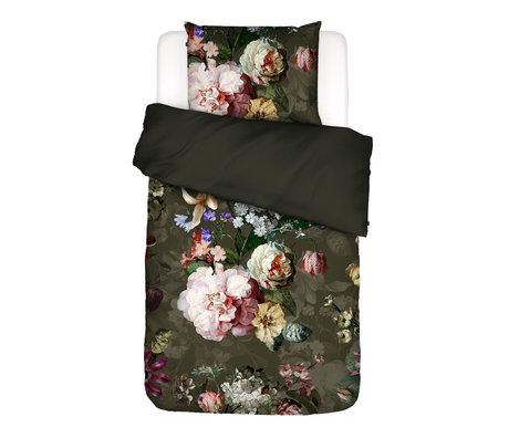 ESSENZA Housse de couette Fleurel vert olive multicolore textile 140x220cm - Taie d'oreiller incluse 60x70cm