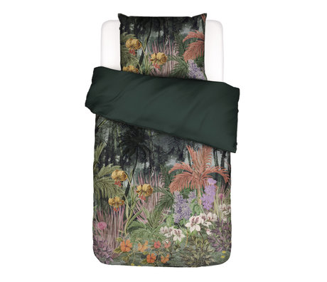 ESSENZA Dekbedovertrek Igone groen multicolour textiel 140x220cm - incl. kussensloop 60x70cm
