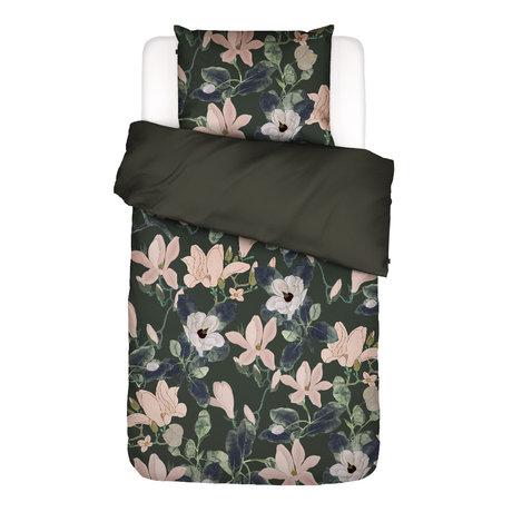 ESSENZA Housse de couette Luna vert multicolore textile 140x220cm - Taie d'oreiller incluse 60x70cm