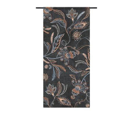 Urban Cotton Tapestry Black denim organic cotton 130x60x0.4 cm