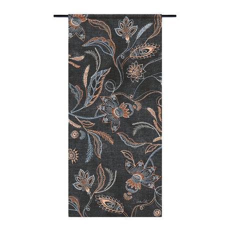 Urban Cotton Wandkleed Black denim organisch katoen 130x60x0,4cm