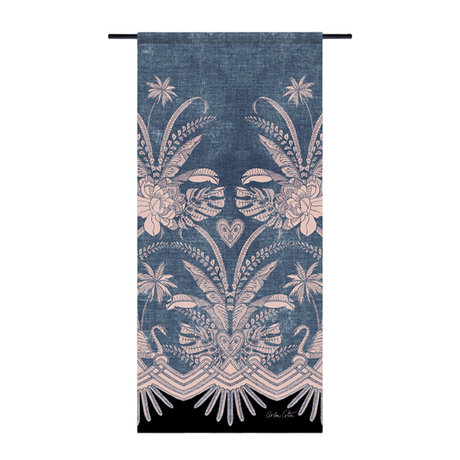 Urban Cotton Tapestry Blue denim organic cotton 130x60x0.4 cm