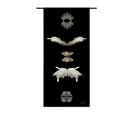 Urban Cotton Wandkleed Collars Golden Age organisch katoen 130x60x0,6cm