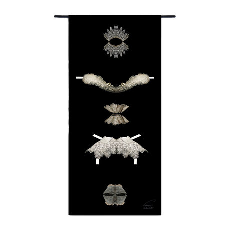 Urban Cotton Tapestry Collars Golden Age organic cotton 130x60x0.6 cm